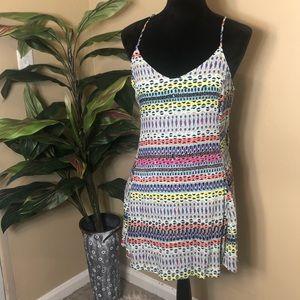 🆕EUC Lulus Lush Geometric Multi Color Dress